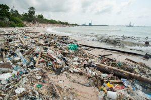 Lebanon Rubbish Crisis: Huge Rubbish Piles Wash Up On A Beach North Of Beirut