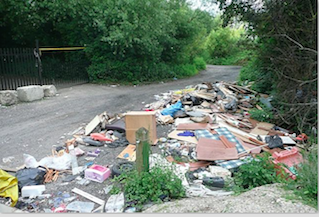Fly tipping on the increase.