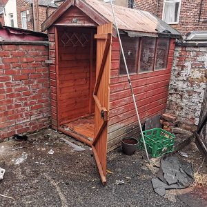 Shed demolition and disposal