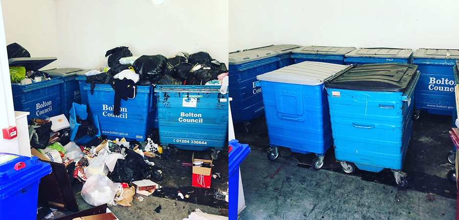 Commercial Bin Decontamination